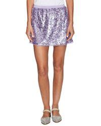 The Letter - Sequin Mini Skirt - Lyst
