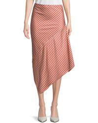 Lea & Viola - Asymmetric Striped Skirt - Lyst