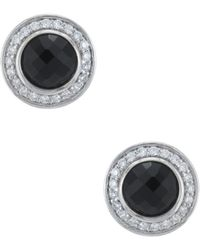 David Yurman - David Yurman Cerise Silver 0.22 Ct. Tw. Diamond & Black Onyx Studs - Lyst