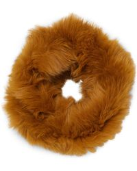 Yves Salomon - Fox Fur Snood Infinity Scarf - Lyst