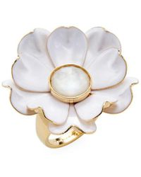 Kate Spade - 12k Yellow Gold Plated Bright Blossom Flower Ring - Lyst