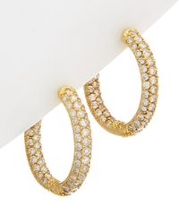 Diana M. Jewels - . Fine Jewelry 14k 3.50 Ct. Tw. Diamond Hoops - Lyst