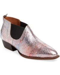 F-Troupe   Metallic Leather Chelsea Bootie   Lyst
