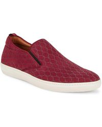 Mezlan - Laser Embossed Suede Casual Shoes - Lyst