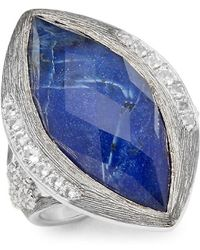 Jude Frances - Encore Silver Crystal & Sterling Silver Large Marquise Stone Moroccan Ring - Lyst