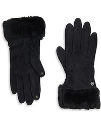 UGG - Shearling-accented Gloves - Lyst