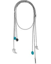 Charriol - Kucha Stainless Steel Turquoise Necklace - Lyst