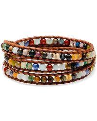 Chan Luu Silver Pietersite Wrap Bracelet