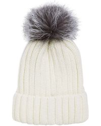 Annabelle New York - Pom-pom Knit Fox Fur Beanie - Lyst