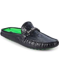 John Richmond - Leather Backless Loafers - Lyst