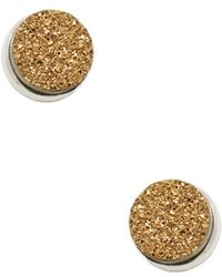 Alanna Bess Jewelry - Round Druzy Stud Earrings - Lyst