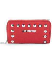 Love Moschino - Studded Zip-around Wallet - Lyst