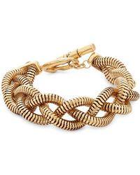 Diane von Furstenberg - Gemma Braided Metal Bracelet - Lyst