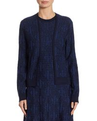 Carolina Herrera - Wool Knit Cardigan - Lyst