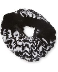 Surell - Rex Rabbit Fur Headband - Lyst