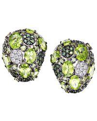 Roberto Coin - 18k 2.24 Ct. Tw. Diamond & Peridot Drop Earrings - Lyst