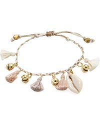 Chan Luu   Corded Mix Tassel & Cowry Charm Bracelet   Lyst