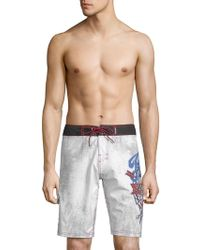 Affliction - Graphic Board Shorts - Lyst