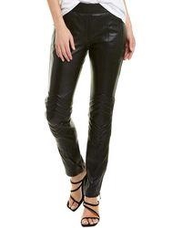 Zadig & Voltaire Pider Leather Biker Pant - Black