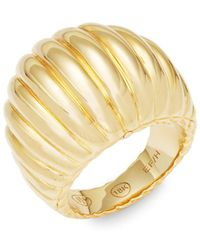 John Hardy - Yellow Gold Ridge Band Ring - Lyst