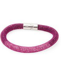 Swarovski - Purple Stardust Bracelet - Lyst