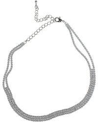 CZ by Kenneth Jay Lane - Three Row Cz Choker Necklace - Lyst