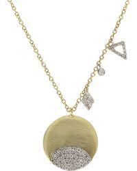 Meira T - 14k 0.45 Ct. Tw. Diamond Necklace - Lyst