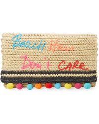 Rebecca Minkoff - Beach Hair Don't Care Straw Clutch - Lyst