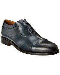 Bruno Magli Sassiolo Leather Oxford - Blue