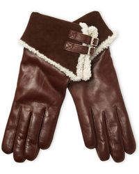 Maison Fabre - Buckled Leather Gloves - Lyst