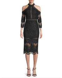 Alexis - Marlowe Lace Cold Shoulder Midi Dress - Lyst