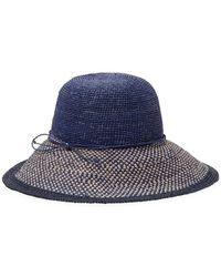 Lyst - Helen Kaminski Kataka Felt Leather-trim Hat in Brown 0e52a62905c0