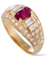 BVLGARI - Bulgari 18k 2.25 Ct. Tw. Diamond & Ruby Ring - Lyst