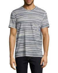 7 For All Mankind - Stripe Tee - Lyst
