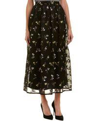 St. John - Silk-blend Maxi Skirt - Lyst