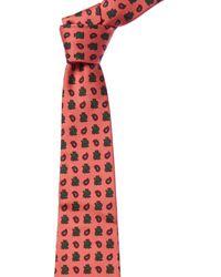 Dunhill Light Pink Paisley Silk Tie