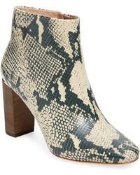 Pour La Victoire - Rickie Snake Leather High Heel Bootie - Lyst