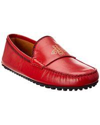 a42141033 Gucci 'damo' Diamante Driving Shoe in Blue for Men - Lyst