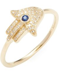 CR By Casa Reale - 14k Yellow Gold Diamond Rings - Lyst