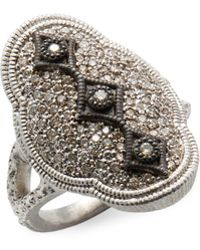 Armenta - Sterling Silver Scalloped Diamond Cravelli Ring - Lyst