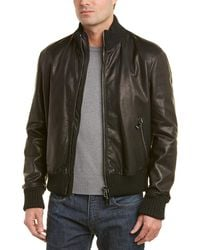Pal Zileri - Leather Bomber Jacket - Lyst