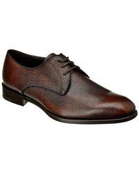 Ferragamo - Leather Derby Shoe - Lyst