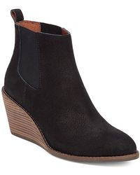 Lucky Brand - Pallet Leather Wedge Ankle Boots - Lyst