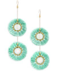 Panacea - Mint Fringe Drusy Drop Earrings - Lyst