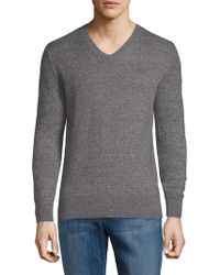 Superdry - Heathered V-neck Sweater - Lyst