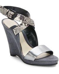 Elie Tahari - Weston Platform Wedge Sandals - Lyst