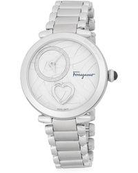 Ferragamo - Cuore Stainless Steel Bracelet Watch - Lyst