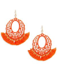 Panacea - Filigree Fringe Drop Earrings - Lyst