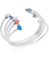 DANNIJO - Set Of Five Silver Plated Amista Cuff Bracelets - Lyst