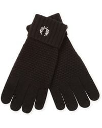 Fred Perry - Pique Ribbed Gloves - Lyst